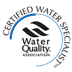 We are a Certified Water Specialist!